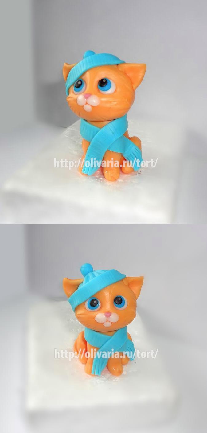 Котенок из мастики своими руками 32