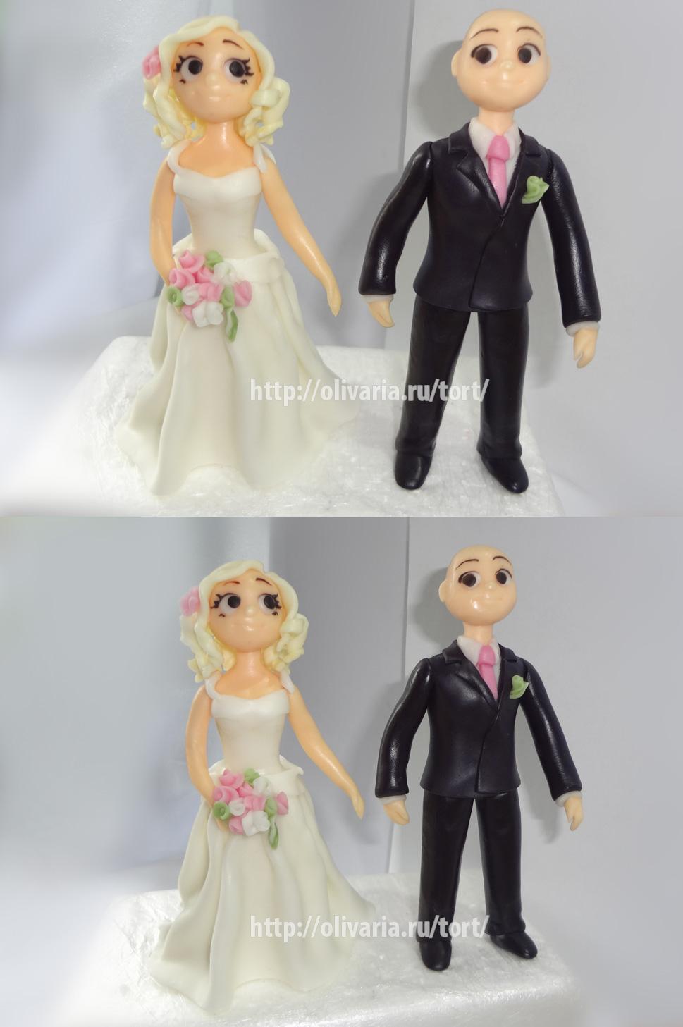 Как сделать свадебные фигурки из мастики