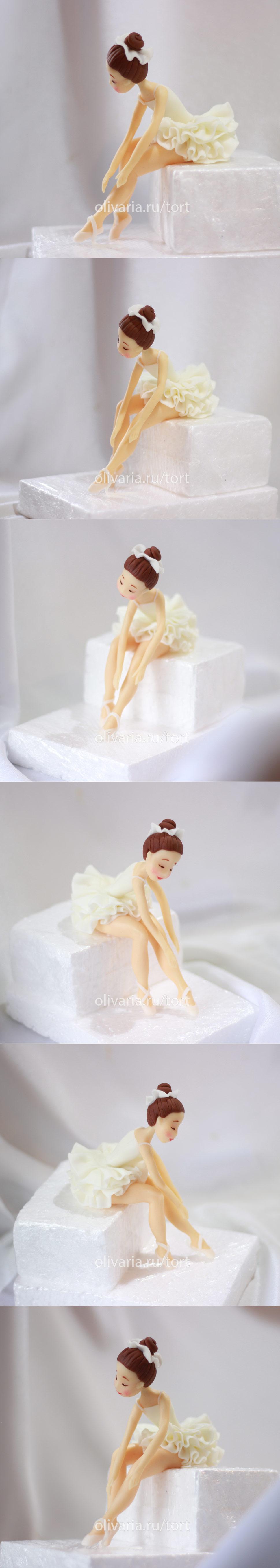Как сделать балерину из мастики